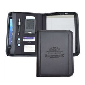 Tablet Letter Sized Padfolio with Zippered Closure