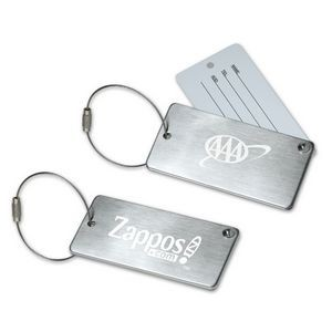 Stainless Steel Luggage Tag with Hide-In Address Card