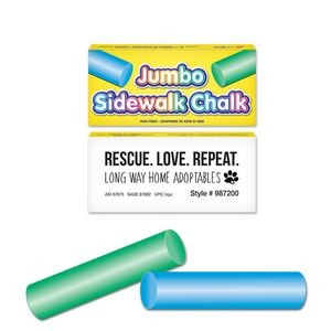 2 Pack Round Jumbo Sidewalk Chalk - Blue & Green